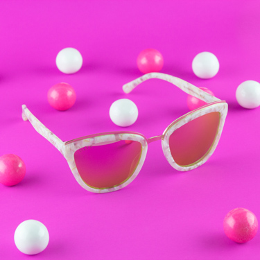 Rose Pink Pearl Frames - Photographed by Tom Windeknecht for DIFF Eyewear