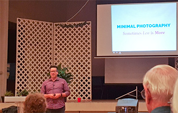 Tom Windeknecht speaking on Minimal Photography and Instagram at the Redlands Camera Club - Redlands, CA - October 3, 2016